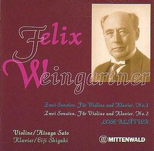 Weingartner_violinsonatas